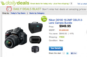 Daily Deal Nikon D5100