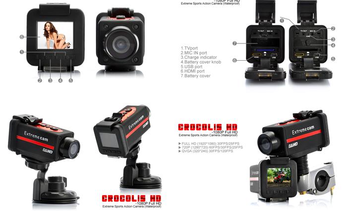 Crocolis HD Sports Camera