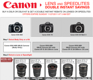 Canon Double Rebates