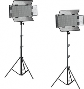 500 LED Video LIght Kit with Stands
