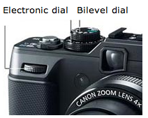 Canon G1X Electronic Dial