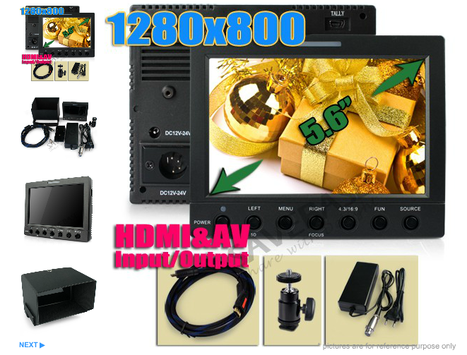 1280x800 LCD HDMI Monitor Kit DSLR