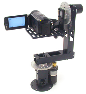 Motorized Pan Tilt Head on Jib / Crane