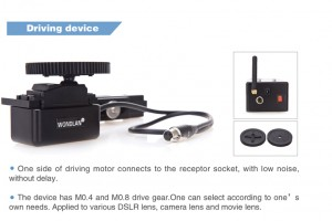 Wondlan wireless follow focus system