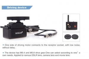 Wondlan wireless follow focus system