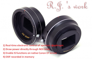 Canon EF Lens to Sony NEX Aperture Adjustment