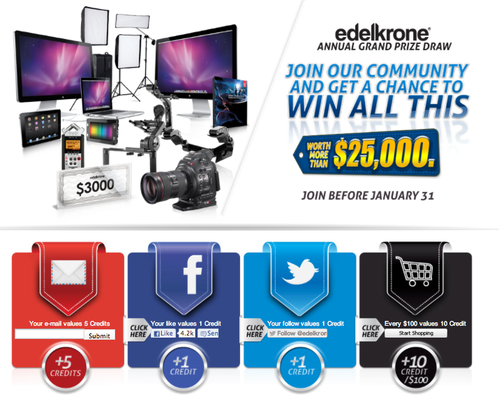 Edelkrone Grand Prize Draw