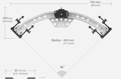 Curved Video Camera Slider Varavon Arc