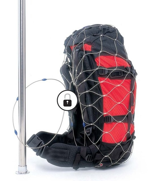 pacsafe bag protector net cable lock