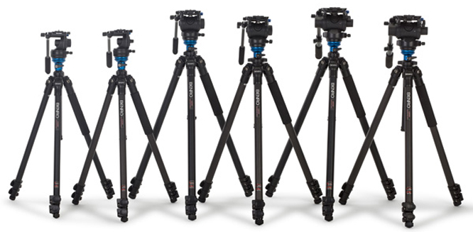 fluid head video tripods benro s2 s4 s6