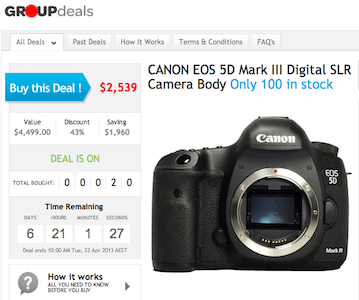 Canon 5D Mark III Group Buy
