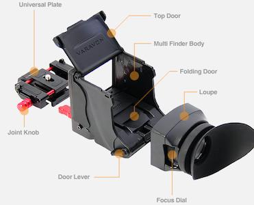 Varavon LCD View Finder Multifinder Pro Uni