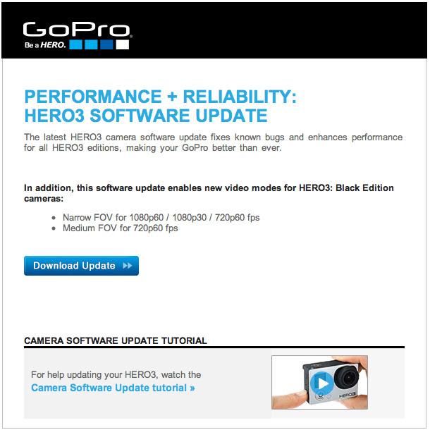 GoPro Hero 3 Update