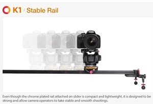 Konova K1 Video Rail Portable Lightweight