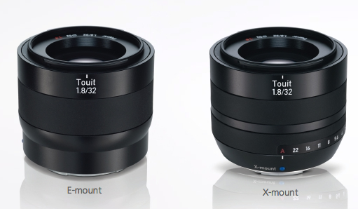 Zeiss 12mm 32mm F/1.8 Lenses Fuji and Sony E Mount