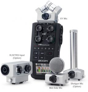 Samson Zoom H6 Portable Audio Modular Mic Shotgun Stereo XY TRS XLR