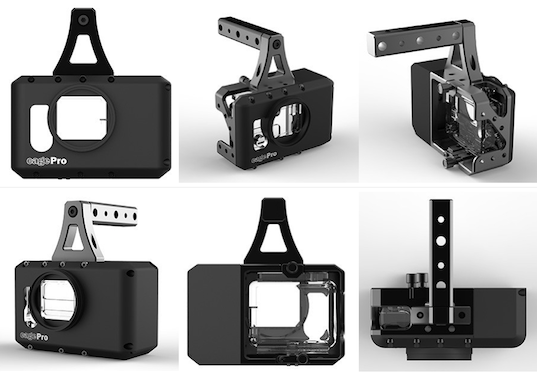 CagePro Canon Battery LP-E6 Powered GoPro Hero3 Cage Top Handle Bump