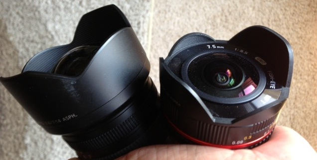 Panasonic 7-14mm Rokinon 8mm Fisheye