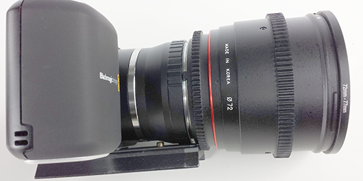 Rokinon Lens BlackMagic Design Pocket Cinema Camera