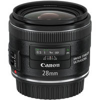 Canon 28mm Prime Lens Image Stabilizer IS