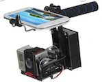 two axis gopro handheld stabilizer gimbal