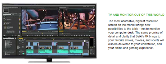 Seiki 4K HDMI Monitor Macbook Pro Review Sample
