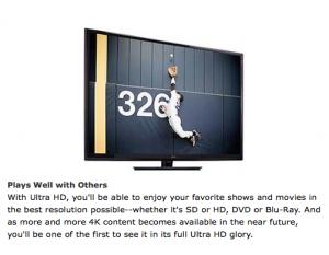 Seiki 4K TV HDMI Video Monitor Display Macbook