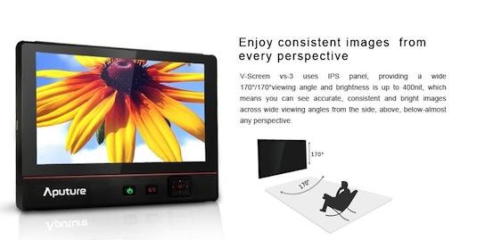 Aputure V-screen VS-3 HDMI Display Monitor BMPCC