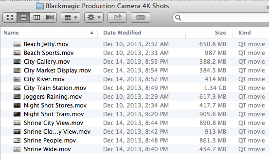 BlackMagic 4K Footage