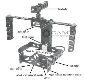 CAME 6000 Stabilizer 3 Axis Gimbal