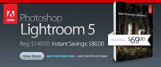 Adobe Lightroom 5 Just $69