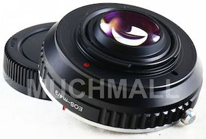 Canon EF MFT M43 Lens Turbo Speed Booster Focal Reducer