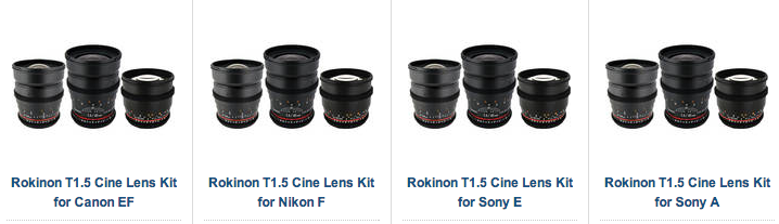 Rokinon Cine Lens Bundles