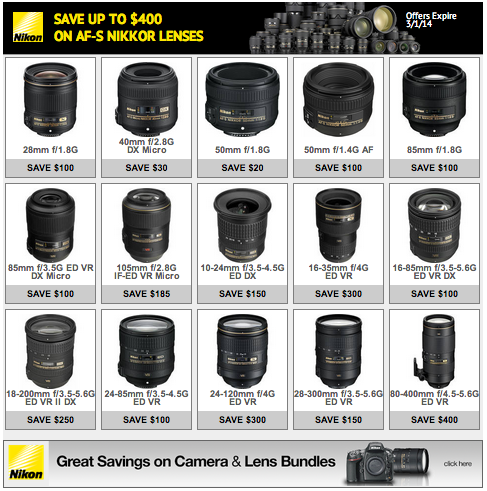 Save up to 400 on Nikkor lenses