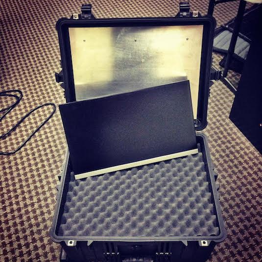 Custom Metal Plate In Pelican Hard Case For Monitor Mount