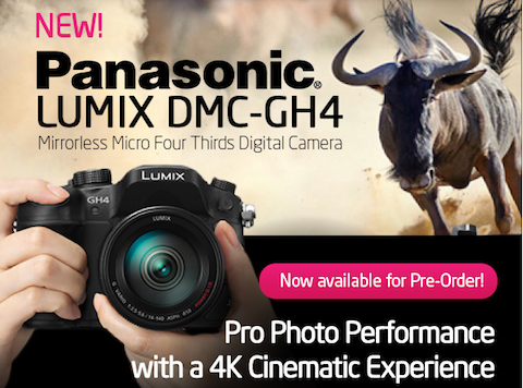 Ready for 4K? Preorder your Panasonic DMC-GH4 Tonight