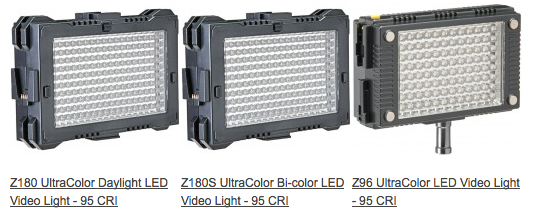 fvlight z180 z96 UltraColor LED Video Lights