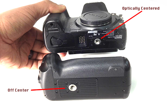 Correct Tripod Mount Alignment with GH3 / GH4 Battery Grip