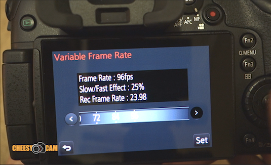 Slow Motion GH4 Variable Frame Rate Option 96 fps