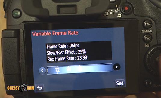 Slow Motion GH4 Variable Frame Rate Option 96 fps