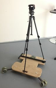 Tripod Mounted DIY Video Dolly Track Curved Arc