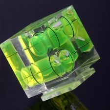 3D 3 Axis Bubble Level Cube Hot Shoe