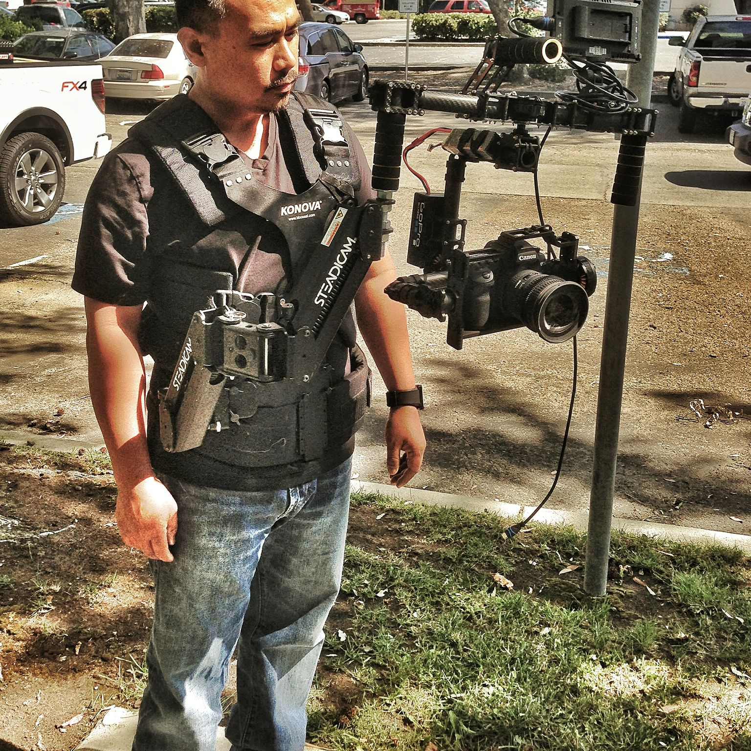 Steadicam Merlin Vest with CAME 7000 3 Axis Gimbal