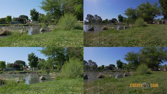 GH4 4K vs 1080p Crop View with Fisheye Lens De-Fish to 1080p Test
