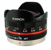 Rokinon Fisheye MFT Micro four thirds fish eye lens cheesycam GH4 defish lens