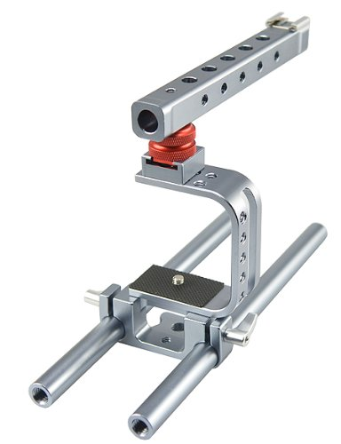 BlackMagic Pocket Cinema Camera Cage Top Handle 15mm Rails
