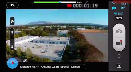 DJI Pahntom Vision Plus App GPS Fail Safe