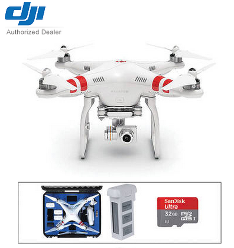 DJI Phantom Kit hard case travel bag extra battery sd card