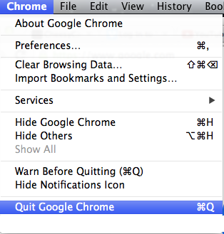 Quit Google Chrome Browser YouTube Autoplay fix