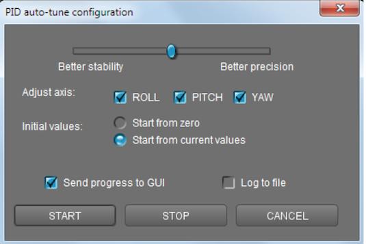 gimbal auto tuning firmware upgrade